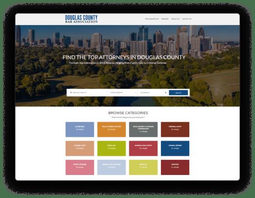 douglas county bar website design