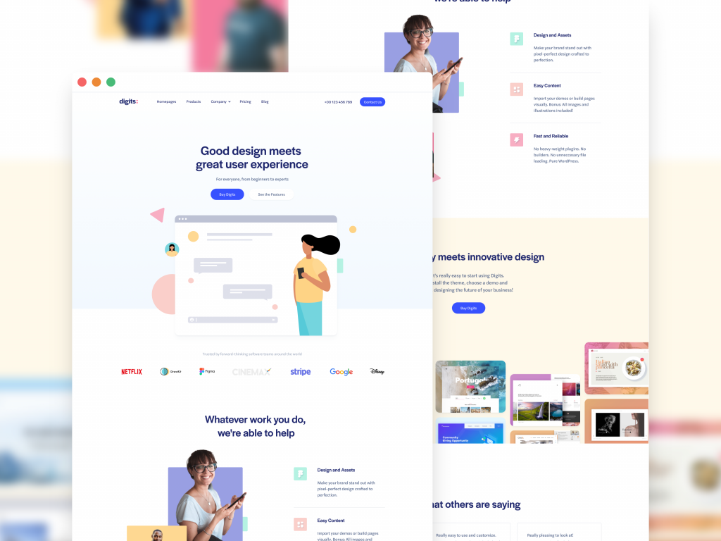 Homepage Design Mock-Up