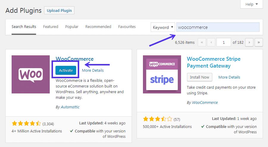 Woocommerce functionality